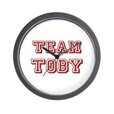 Team Toby Red Wall Clock