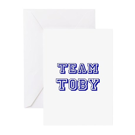 Team Toby Blue Greeting Cards (Pk of 10)
