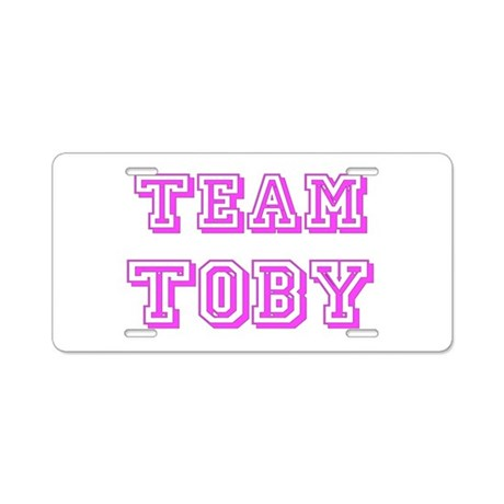 Team Toby Pink Aluminum License Plate