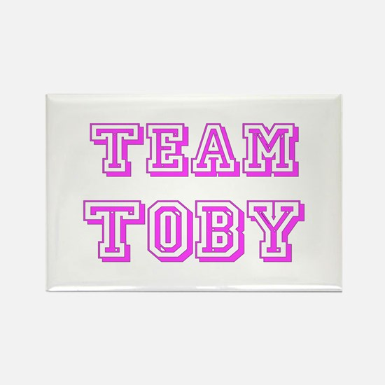 Team Toby Pink Rectangle Magnet