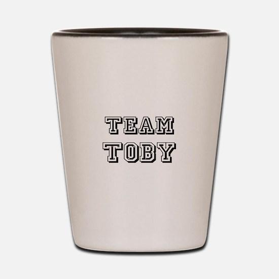 Team Toby Black Shot Glass