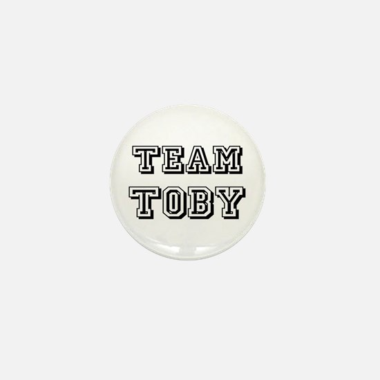 Team Toby Black Mini Button