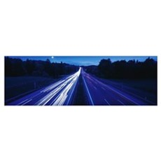 Autobahn with Traffic near Irschenberg Germany Poster