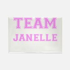 Team Janelle Pink Rectangle Magnet