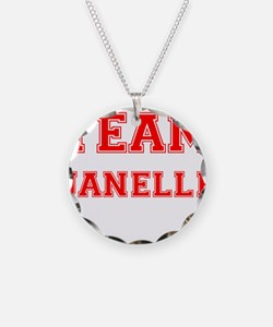 Team Janelle Red Necklace Circle Charm