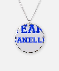 Team Janelle Blue Necklace Circle Charm