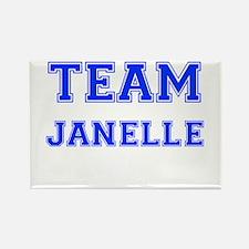 Team Janelle Blue Rectangle Magnet