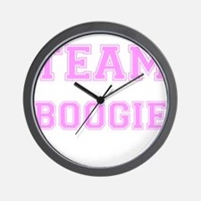 Team Boogie Pink Wall Clock