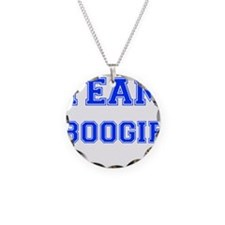 Team Boogie Blue Necklace Circle Charm