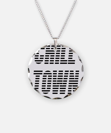 Chill Town (Black/White) Necklace Circle Charm