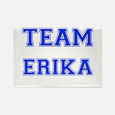 Team Erika Blue Rectangle Magnet