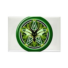 Earth Dragon Pentacle Rectangle Magnet