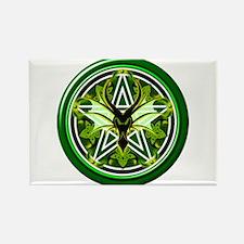 Earth Dragon Pentacle Rectangle Magnet
