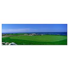 Golf Course Spyglass Hill CA Poster