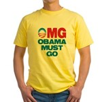 OMG: Obama Must Go Yellow T-Shirt
