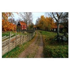 Cultural Village in Autumn Stensjoeby Sweden