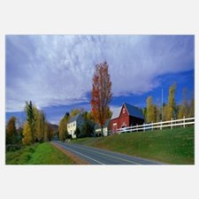 Farm and Road near St. Johnsbury Vermont