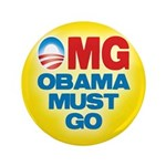 "OMG: Obama Must Go 3.5"" Button (100 pack)"