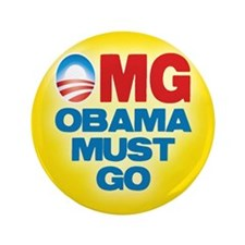 """OMG: Obama Must Go 3.5"""" Button (100 pack)"""