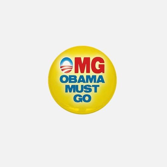 OMG: Obama Must Go Mini Button (10 pack)