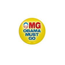 OMG: Obama Must Go Mini Button