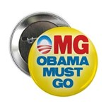 "OMG: Obama Must Go 2.25"" Button (100 pack)"
