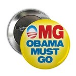 "OMG: Obama Must Go 2.25"" Button"