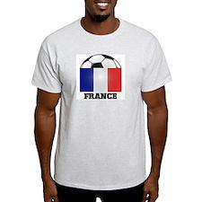 France Soccer Ash Grey T-Shirt