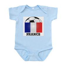 France Soccer Infant Creeper