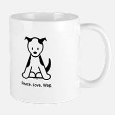 Peace. Love. Wag. Puppy Mug