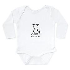 Peace. Love. Wag. Puppy Long Sleeve Infant Bodysui