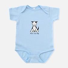 Peace. Love. Wag. Puppy Infant Bodysuit