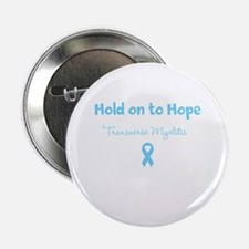 "Hold on to Hope with Ribbon 2.25"" Button"