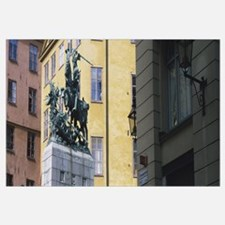 Low angle view of a statue, Stockholm, Sweden