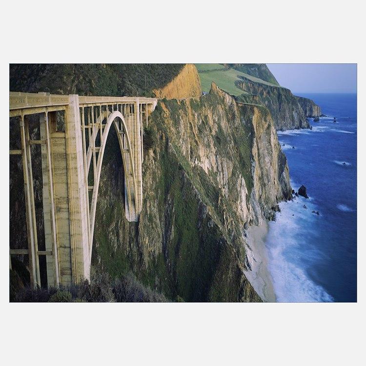 Bridge across two cliffs, Bixby Bridge, Big Sur, C