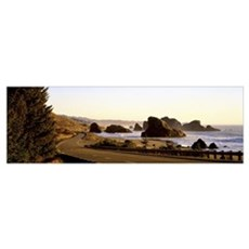 Highway Hunters Cove OR Framed Print