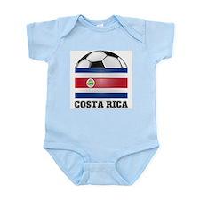Costa Rica Soccer Infant Creeper
