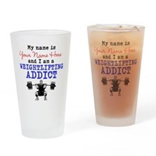 Weightlifting Addict Drinking Glass