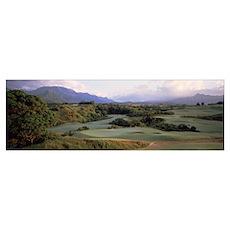 Princeville Golf Course Kauai Island HI Poster