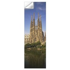 Low angle view of a cathedral, Sagrada Familia, Ba Wall Decal