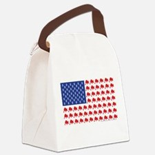 Bull-Flag.png Canvas Lunch Bag