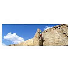 Rock Climber Goosenecks UT Poster