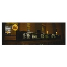 Arrival departure board in a station, Grand Centra Framed Print