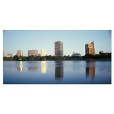 Skyline and Lake Merritt Oakland CA Framed Print