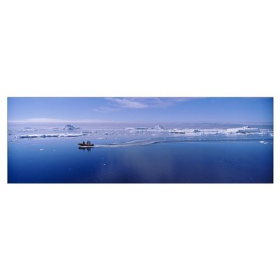Dinghy Ross Sea Antarctica Poster