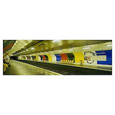 Metro Paris France Poster