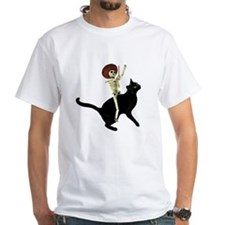Skeleton on Cat T-Shirt