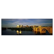 Francis Scott Key Bridge Rosslyn VA Poster
