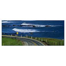 Pacific Coast Highway Mendocino Co CA Poster
