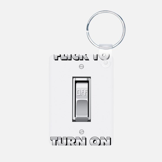 Light Switch Flick to Turn On Keychains
